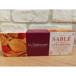 """Sablé aux pépites de framboise """"La Sablésienne"""""""